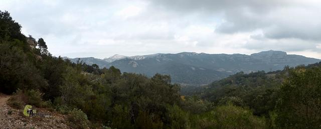 Vistas hacia la Sierra de Sant Lloreç del Munt
