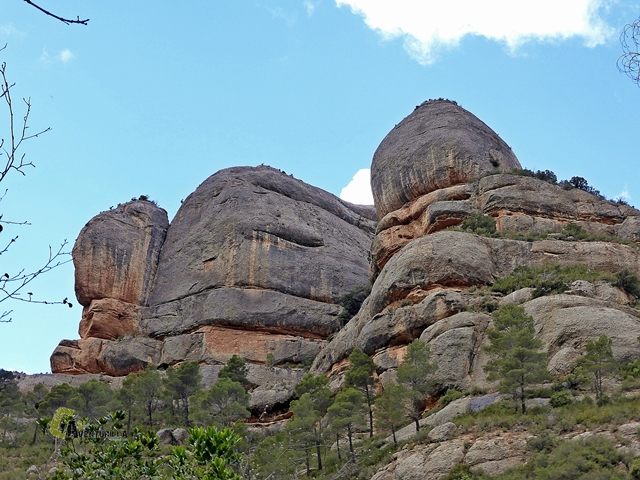 Conglomerado rocoso de la sierra de Montsant