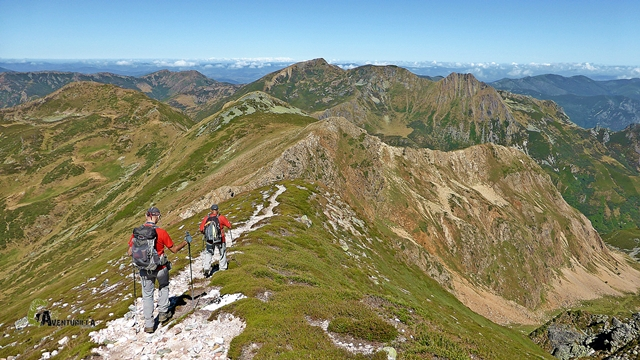 Bajando del pico Cornón
