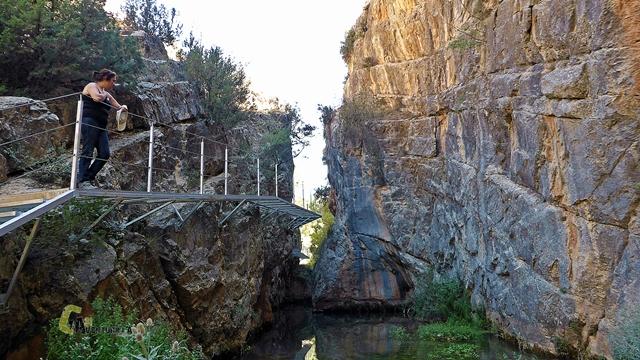Pasarelas en el río Guadalaviar