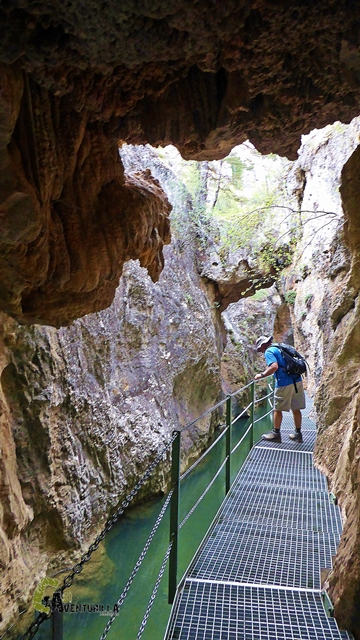 Interior del Cañón de los Arcos