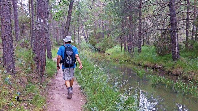 Dejamos el sector equipado y caminamos junto al río cómodamente