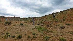 subiendo a la Muela de Teruel