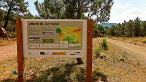 Panel de información de la Laguna de Talayuelas