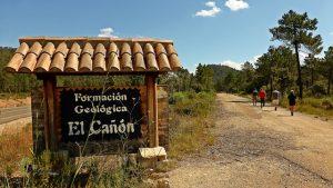 Panel paseo hasta El Cañón