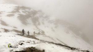 Ambiente invernal en Dolomitas