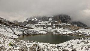 Lagunasde la cara norte del Monte Paterno
