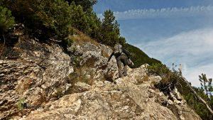 Pasos equipados hacia el lago di Sorapís