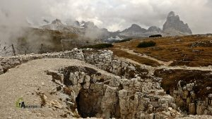 Trincheras en Monte Piana