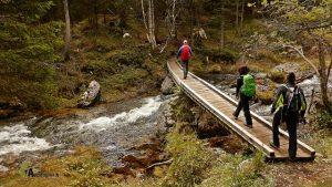 Puente en el río Fanes