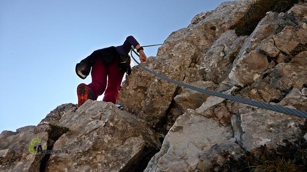 Tramos equipados en montaña