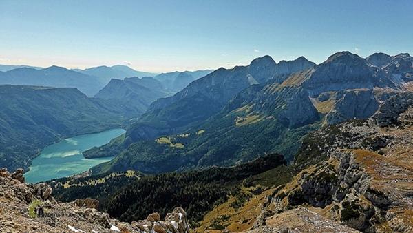lago di Molveno desde el Piz Galín