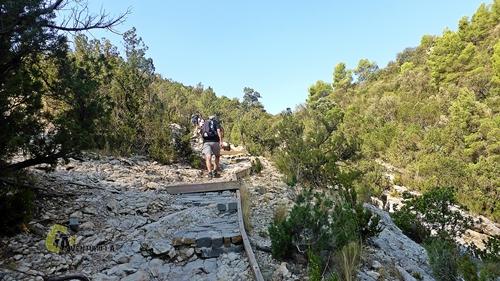 subida a las pasarelas de Montfalcó
