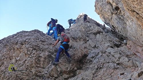 Tramo de bajada del Monte Paterno