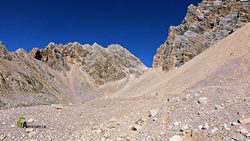 Vista hacia la Forcella Val D'Arcia