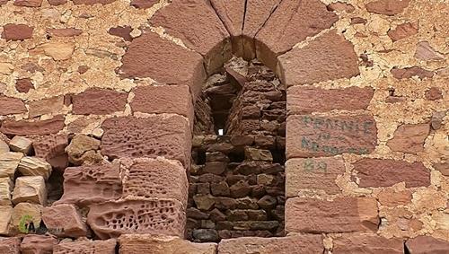 Detalle de de una de las ventanas del castillo