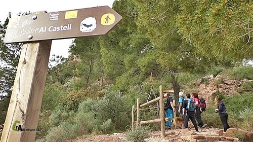 Panel de información del castillo