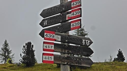Indicaciones en Dolomitas