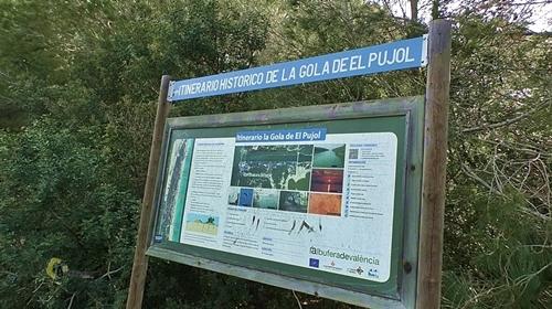 Panel de información del recorrido