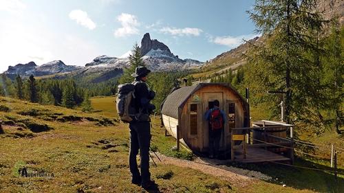 Sauna en Dolomitas