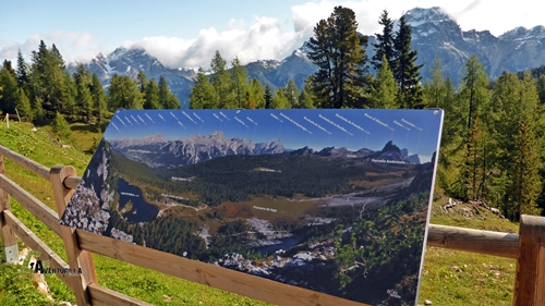 panel de montañas