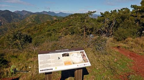 Mirador en la sierra de Espadan