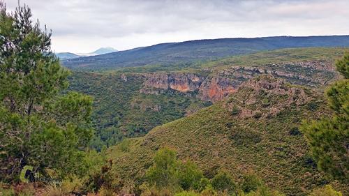 Barrancos en la sierra de Enguera