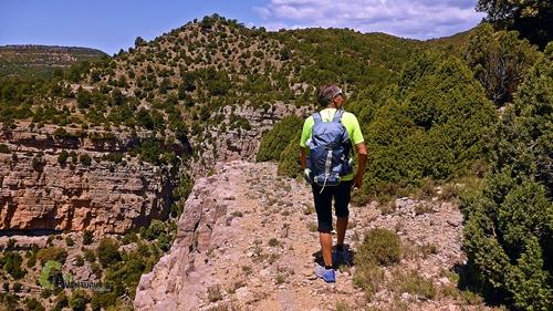 Por la parte alta de la montaña