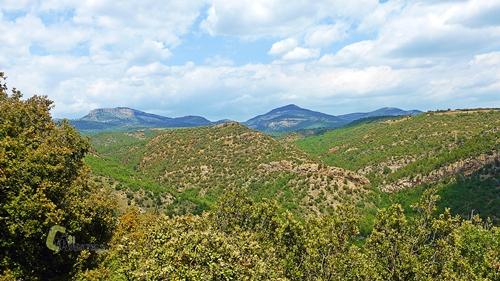 vistas de las montañas de Gudar