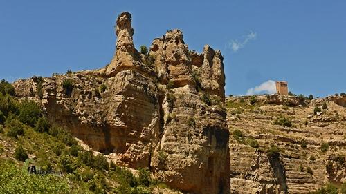 Formaciones geológicas en el río Martín